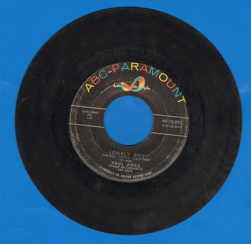 Anka, Paul - Lonely Boy/Your Love  - VG7/ - 45 rpm Records