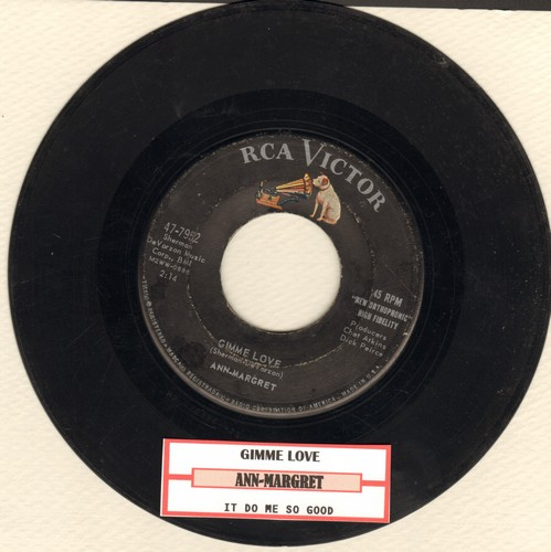 Ann-Margret - Gimme Love/It Do Me So Good (with juke box label) - VG6/ - 45 rpm Records