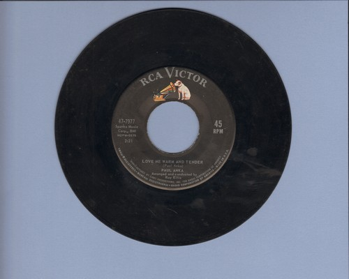 Anka, Paul - Love Me Warm And Tender/I'd Like To Know  - VG7/ - 45 rpm Records
