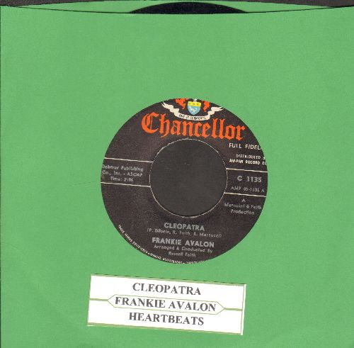 Avalon, Frankie - Cleopatra/Heartbeats (RARE Teen Idol 2-sider with juke box label) - EX8/ - 45 rpm Records