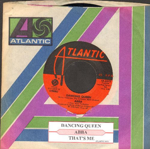 ABBA - Dancing Queen/That's Me (with juke box label and Atlantic company sleeve) - NM9/ - 45 rpm Records