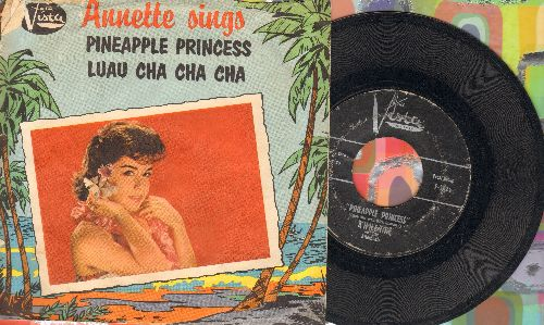 Annette - Pineapple Princess/Luau Cha Cha Cha  - VG6/VG6 - 45 rpm Records
