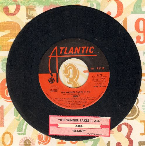 ABBA - The Winner Takes It All/Elaine (with juke box label) - VG7/ - 45 rpm Records