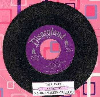 Annette - Tall Paul/Ma, He's Making Eyes At Me (with juke box label) - EX8/ - 45 rpm Records