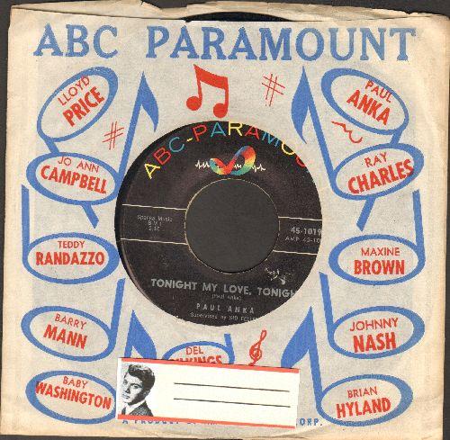 Anka, Paul - Tonight My Love, Tonight/I'm Just A Fool Anyway - NM9/ - 45 rpm Records