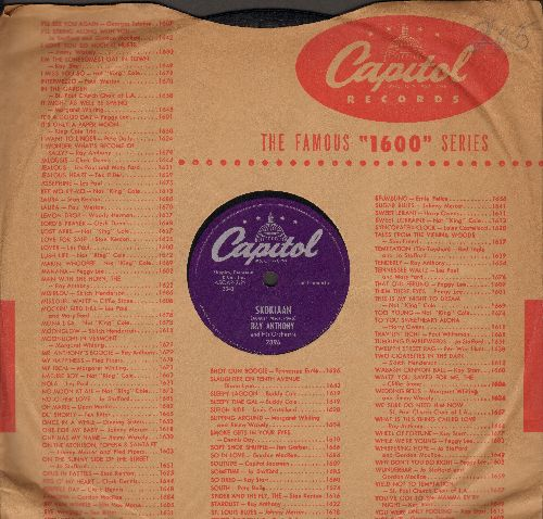 Anthony, Ray & His Orchestra - Skokiaan/Say Hey (10 inch 78 rpm record with Capitol company sleeve) - VG7/ - 78 rpm