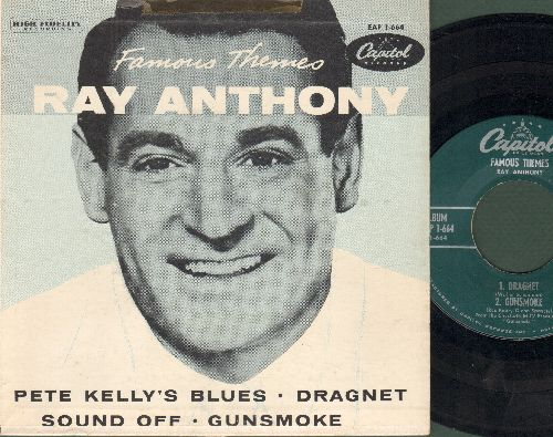 Anthony, Ray - Famous Themes: Dragnet/Pete Kelly's Blues/Sound Off/Gunsmoke (vinyl EP record with picture cover) - NM9/VG7 - 45 rpm Records