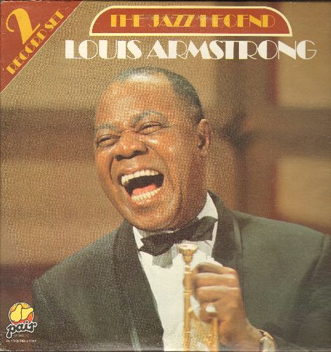 Armstrong, Louis - The Jazz Legend: I Can't Give You Anything But Love, St. Louis Blues, Cabaret, Mack The Knife (2 vinyl STEREO LP records, 1983 issue of vintage recordings) - NM9/NM9 - LP Records