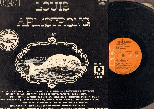Armstrong, Louis - Satchmo's Greatest Vol. 1: I Gotta Right To Sing The Blues, That's My Home, I've Got The World On A String (vinyl LP record, Frennch Pressing of vintage 1932-1933 Jazz recordings) - NM9/NM9 - LP Records