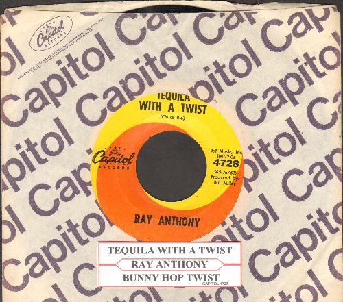 Anthony, Ray - Bunny Hop Twist/Tequila With A Twist (with juke box label and Capitol company sleeve) - NM9/ - 45 rpm Records