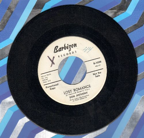 Anthony, Don - Lost Romance/Only In My Heart (DJ advance pressing) (wol) - EX8/ - 45 rpm Records