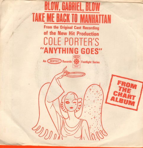 Rodgers, Eileen - Blow, Gabriel, Blow/Take Me Back To Manhatten (from Original Cast Recording -Anything Goes-) (DJ advance pressing, wol, woc) - EX8/EX8 - 45 rpm Records