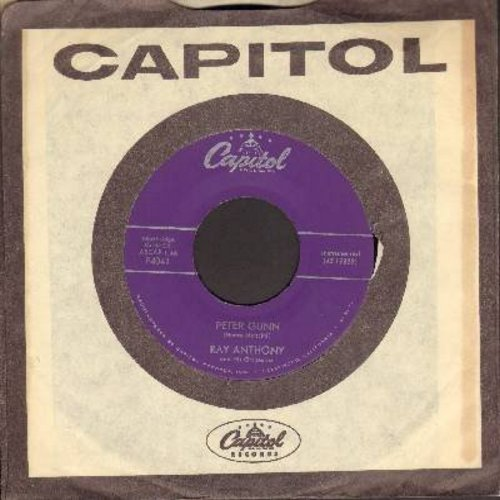Anthony, Ray - Peter Gunn/Tango For Two (purple label first issue with vintage Capitol company sleeve) - EX8/ - 45 rpm Records