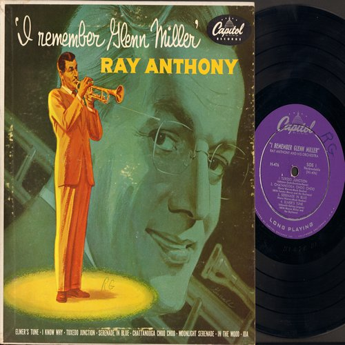 Anthony, Ray - I Remember Glenn Miller: Serenade In Blue/Tuxedo Junction/In The Mood/Ida/Moonlight Serenade + 3 (10 inch LP record with picture cover) - EX8/EX8 - LP Records