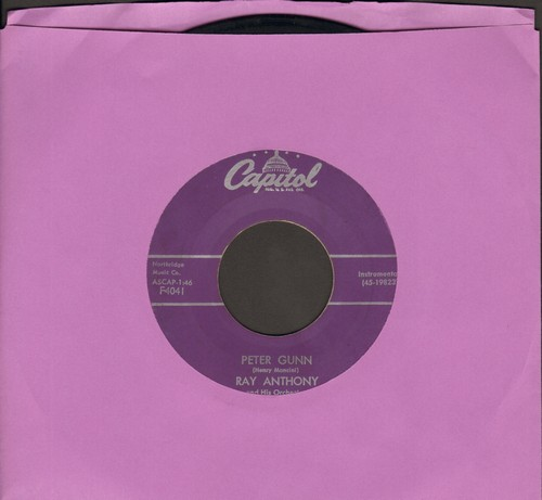 Anthony, Ray - Peter Gunn/Tango For Two (purple label first issue) - G5/ - 45 rpm Records