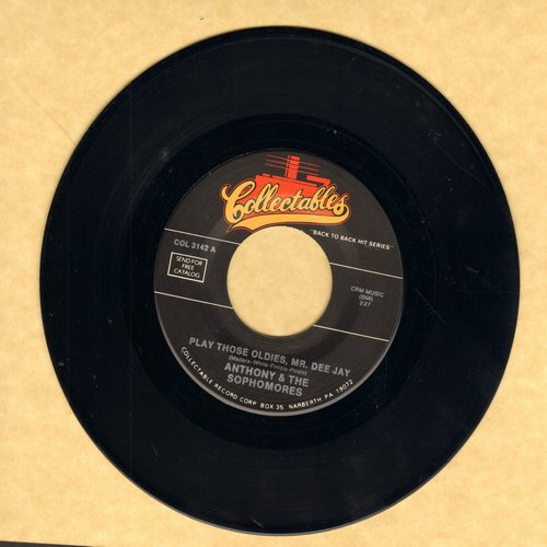 Anthony & The Sophomores - Play Those Oldies, Mr. Dee Jay/The Boy Next Door (by The Secrets on flip-side) (re-issue) - NM9/ - 45 rpm Records