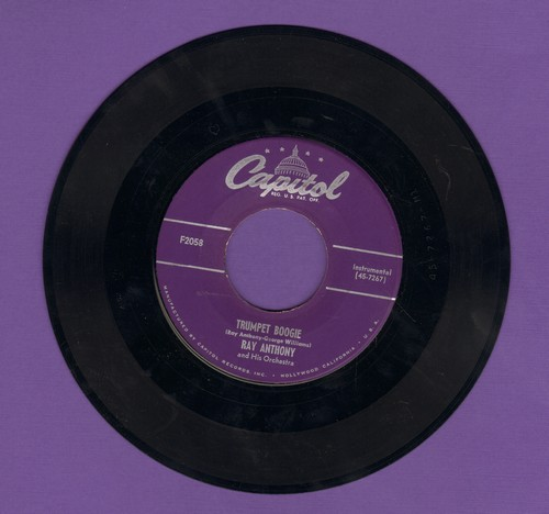 Anthony, Ray & His Orchestra - Trumpet Boogie/You're Driving Me Crazy - EX8/ - 45 rpm Records