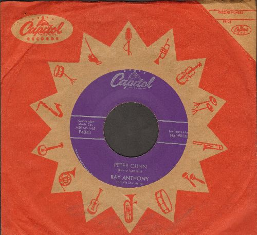 Anthony, Ray - Peter Gunn/Tango For Two (purple label first issue with vintage Capitol company sleeve) - NM9/ - 45 rpm Records