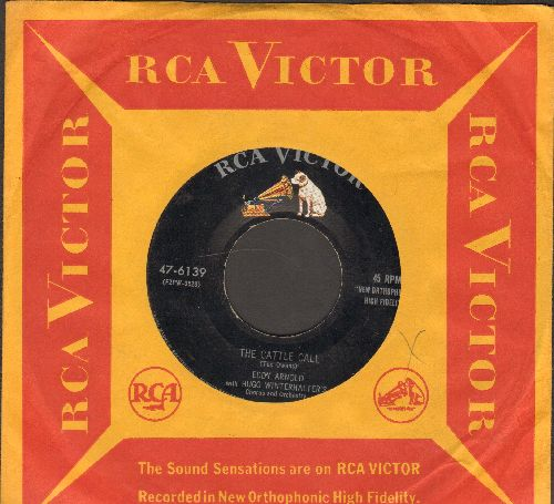 Arnold, Eddy - The Cattle Call/The Kentucky Song (with vintage RCA company sleeve) - VG7/ - 45 rpm Records