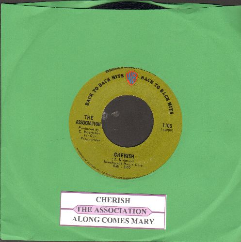 Association - Cherish/Along Came Jones (green label early double-hit re-issue with juke box label) - NM9/ - 45 rpm Records