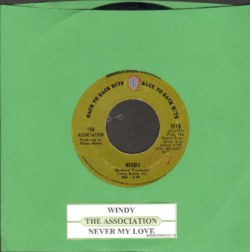 Association - Windy/Never My Love (double-hit re-issue with juke box label) - VG7/ - 45 rpm Records
