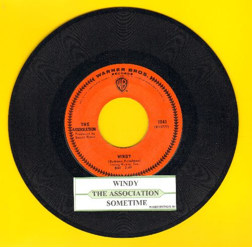 Association - Windy/Sometime (with juke box label) - NM9/ - 45 rpm Records