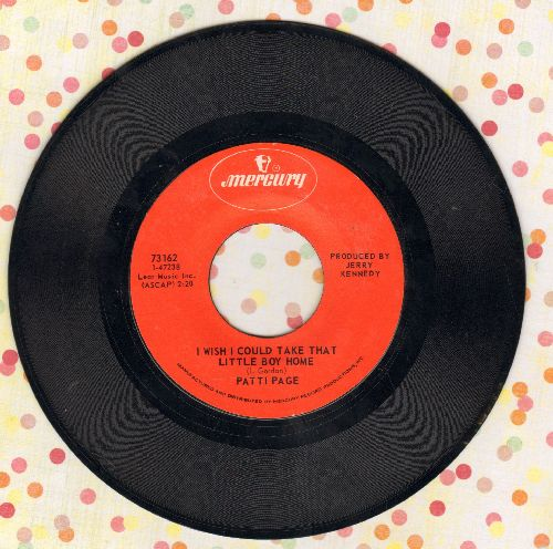Page, Patti - I Wish I Had A Mommy Like You/He'll Never Take The Place Of You  - EX8/ - 45 rpm Records