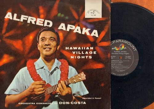 Apaka, Alfred - Immortal Hawaiian: Kawohikukapulani, Moonlight And Shadows, Somwhere In Hawaii, Harbor Lights, Sunset in Hawaii, Hilawe, Red Sails In The Sunset, Ka-Lu-A, Blue Hawaii,  Palm Trees Sing Aloha, Tower Of Love, Song Of Old Hawaii (vinyl Stereo