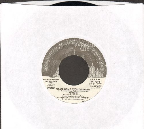 Apache - Please Don't Stop The Music (double-A-sided DJ advance pressing) - NM9/ - 45 rpm Records