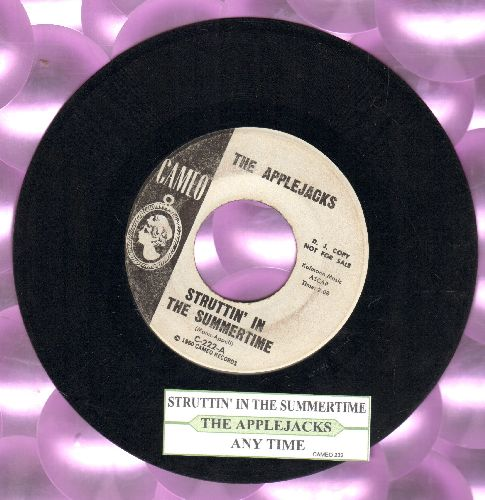 Applejacks - Struttin' In The Summertime/Any Time (DJ advance pressing with juke box label) - EX8/ - 45 rpm Records