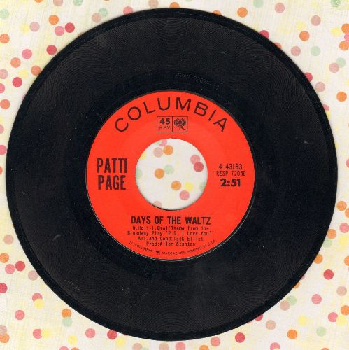 Page, Patti - Days Of The Waltz/Don't You Pass Me By - NM9/ - 45 rpm Records