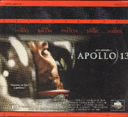 Appolo 13 - Applo 13 Letterbox Double Laser Disc Starring Tom Hanks (SEALED) - SEALED/SEALED - Laser Discs