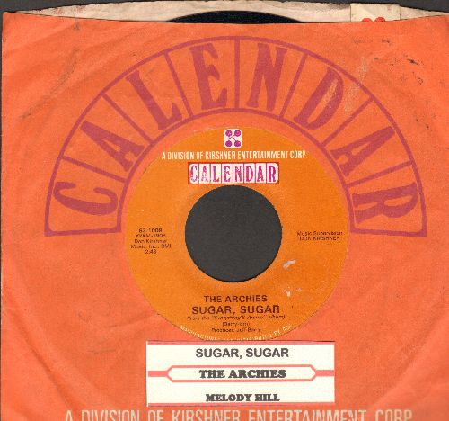 Archies - Sugar, Sugar (All-Time #1 Selling 45rpm record!)/Melody Hill (with Kirshner company sleeve) - NM9/ - 45 rpm Records