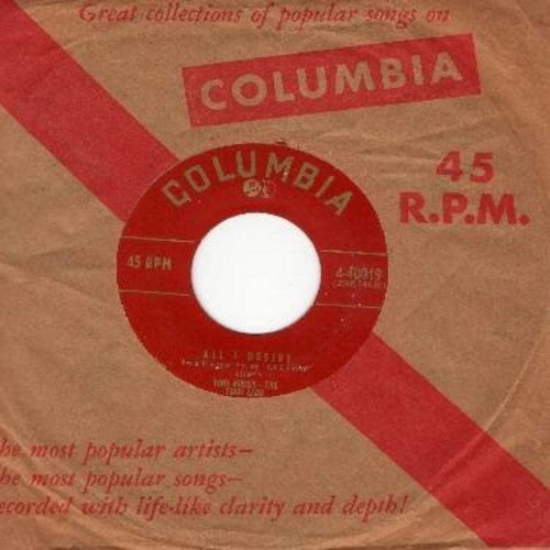 Arden, Toni & The Four Lads - All I Desire/The Lovers's Waltz (with vintage Columbia company sleeve) - EX8/ - 45 rpm Records
