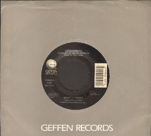 Aerosmith - What It Takes/Monkey On My Back (with Geffen company sleeve) - EX8/ - 45 rpm Records