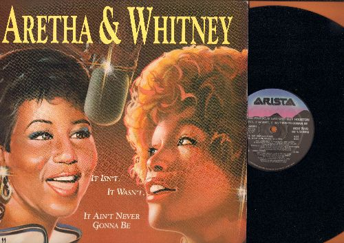 Franklin, Aretha & Whitney Houston - It Isn't, It Wasn't, It Ain't Never Gonna Be (4 different Extended Mix-Tracks)/Think (1989) (12 inch vinyl Maxi single with picture cover) - NM9/NM9 - 45 rpm Records