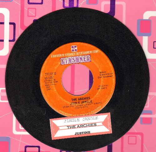 Archies - Jingle Jangle/Justine (with juke box label) - VG7/ - 45 rpm Records