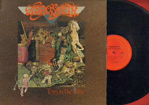 Aerosmith - Toys In The Attic: Uncle Salty, Walk This Way, Nig Ten Inch Record, Sweet Emotion (vinyl STEREO LP record) - NM9/EX8 - LP Records
