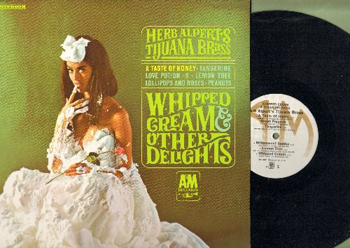 Alpert, Herb & The Tijuana Brass - Whipped Cream & Other Delights: A Taste Of Honey, Love Potion No. 9, Ladyfingers, Peanuts (very 'Interesting' cover photo!) (Vinyl STEREO LP record) - NM9/NM9 - LP Records