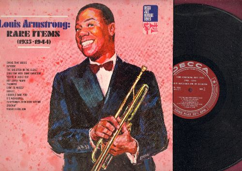 Armstrong, Louis - Rare Items (1935-1944): Jubilee, I Double Dare You, Thanks A Million, You're A Lucky Guy, Struttin' With Some Barbecue (vinyl MONO LP record, early re-issue of vintage Jazz recordings) - NM9/NM9 - LP Records