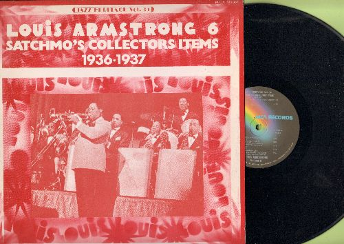 Armstrong, Louis - Satchmo's Collectors Items 1936-1937: Putting All My Eggs In One Basket, If We Never Meet Again, Carry Me Back To Old Virginny (vinyl LP record, 1974 issue of vintage Jazz recordings) - NM9/NM9 - LP Records