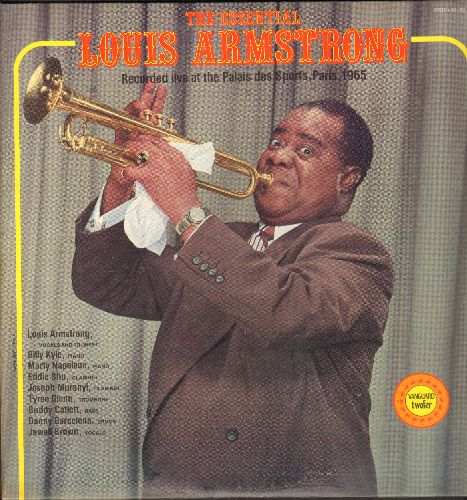 Armstrong, Louis - The Essential Louis Armstrong - Recorded Live at the Palais des Sports, Paris, 1965 (2 vinyl STEREO LP records, gate-fold cover, 1976 re-issue) - NM9/EX8 - LP Records