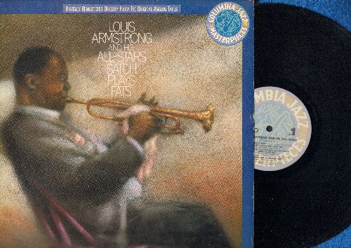 Armstrong, Louis & His All-Stars - Satch Plays Fats: Honeysuckle Rose, Ain't Misbehavin', All That Meat And No Potatoes, Blue Turning Grey Over You (Vinyl LP record, 1986 re-issue of vintage Jazz recordings) - NM9/EX8 - LP Records