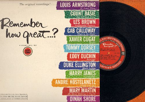 Basie, Count, Louis Armstrong, Xavier Cugat, Cab Calloway, others - Remember How Great?: St. Louis Blues, One O'Clock Jump, Brazil, Blues In The Night (vinyl LP record) - NM9/VG6 - LP Records