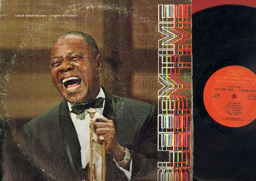 Armstrong, Louis - Sleepytime…A Remembrance: St. Louis Blues, Cornet Chop Suey, Ain't Misbehavin', Mack The Knife, All Of Me, Cabaret (Vinyl STEREO LP record) - NM9/VG7 - LP Records