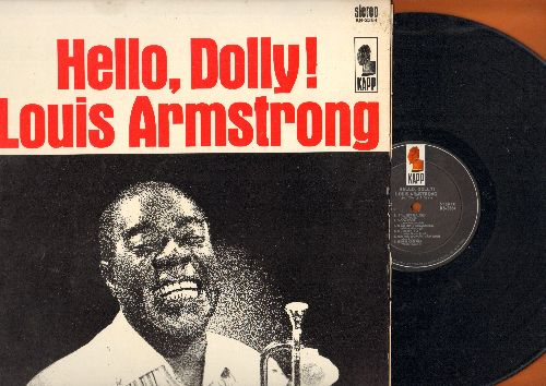 Armstrong, Louis - Hello, Dolly!: Moon River, Jeepers Creepers, Blueberry Hill, A Kiss To Build A Dream On, It's Been A Long Long Time (vinyl STEREO LP record) - EX8/NM9 - LP Records
