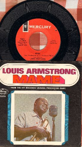 Armstrong, Louis - Mame/Tin Roof Blues (with picture sleeve) (bb) - NM9/NM9 - 45 rpm Records