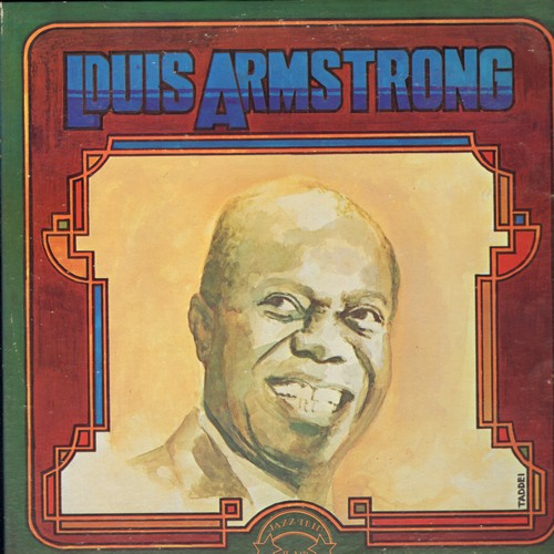 Armstrong, Louis - Louis Armstrong: Tiger Rag, Black And Blue, Heebie Jeebies, I Got Rhythm (2 vinyl LP records, re-issue of vintage recordings, gate-fold cover) - M10/EX8 - LP Records