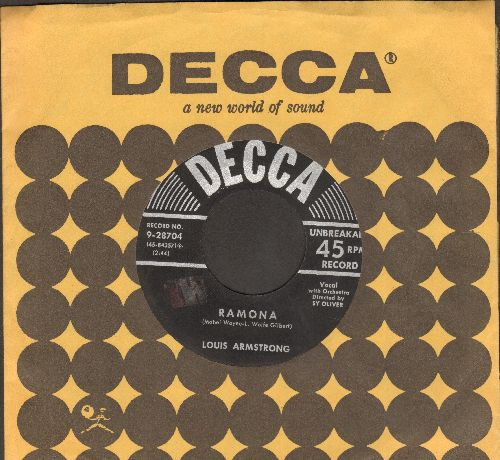 Armstrong, Louis - Ramona/April In Portugal (with vintage Decca company sleeve) - EX8/ - 45 rpm Records