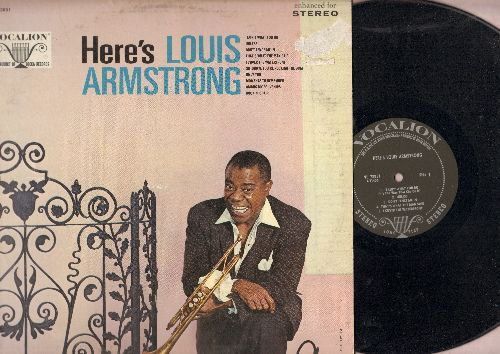 Armstrong, Louis - Here's Louis Armstrong: 'Tain't What You Do, Don't Fence Me In, Only You, Among My Souvenirs, Rockin' Chair (vinyl LP record, enhanced for STEREO) - EX8/VG7 - LP Records